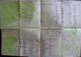 Pharus-Plan Bad Wildungen Maßstab 1:7500 1926 - Urheber Dr. Cornelius Löwe - 30cm X 45cm - Karten