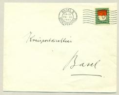 Schweiz - 1924 - 10c Pro Juventute On Local Cover Basel - Brieven En Documenten