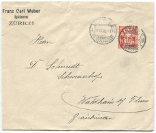 1521 - Perfin Beleg Der Firma Franz Carl Weber In Zürich - Briefe U. Dokumente