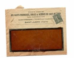 Lettre Cachet  Entete Acierie Saut Tarn - Marcophilie (Lettres)