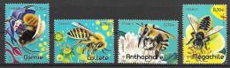 France 2016 - Yv N° F5051 à 5054  ** - Abeilles Solitaires  (timbres Issus Du Bloc F5052) - Ongebruikt