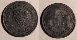 GETTONE JETON TOKEN FRANCIA 10 CENT. CHAMBRES DE COMMERCE - Monétaires/De Nécessité