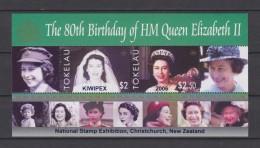 Tokelau Block Mi 36 80th Birthday Of Queen Elizabeth II 2006 * * National Stamp Exhibition Christchurch - KIWIPEX - Tokelau