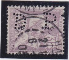 PERFIN / Y&T N° 128  Perforé DP   - 2 SCANS - France