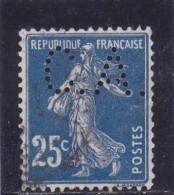 PERFIN / Y&T N° 140    Perforé  CA   - 2 SCANS - France