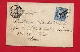 GC 3004 Pouilly Sur Loire (Nièvre) 1874 - Marcophilie (Lettres)