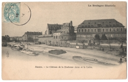 CPA 44 - NANTES (Loire Atlantique) - Le Château De La Duchesse Anne Et La Loire - Dos Simple - Nantes