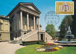 D23655 CARTE MAXIMUM CARD 1980 SWITZERLAND - CITY HALL WINTERTHUR CP ORIGINAL - Architecture