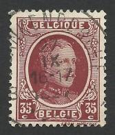 Belgium,  35 C. 1922, Sc # 154, Mi # 178, Used. - 1922-1927 Houyoux