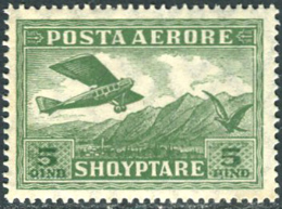 Albania 1925. Michel #126 MNH(**)/Luxe. Airplane (Ts27) - Avions