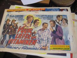 7 Film Affichen ( Vlaaamsche ) Affiches Antwerpse Cinema Charel Janssens Nand Buyl Suzie Marleen Woodpeckers E. Kiel - Affiches