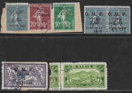 Syrie Oblitérérs, Trois Sur Fragment, USED, O.M.F. - Syrie (1919-1945)