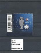 Timbre De 2016 Neuf** Y&T N° 5039 EURO 2016 Du Bloc De 5 - Ongebruikt