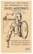 Carte Syndicat National Des Personnels Des Bases Aériennes, 1957 - Cartes