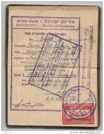 ARGENTINA - Xrare 1949 PASSPORT - PASSEPORT - Israel 1949 Visa And Consular Revenues - Rare ITALIA Revenues - See Descr - Documentos Históricos