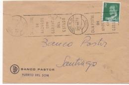 3027 Carta Puerto De Son, 1977 La Coruña , Banco Pastor, - 1931-Hoy: 2ª República - ... Juan Carlos I