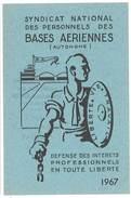 Carte Syndicat National Des Personnels Des Bases Aériennes, 1967 - Cartes