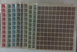 Taiwan 1945 Rep China Overprinting From Japanese Stamps Sheets Arabic Figure Kamatari Fujiwara Cherry Blossom DT01 - Hojas Bloque