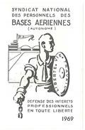 Carte Syndicat National Des Personnels Des Bases Aériennes, 1969 - Cartes