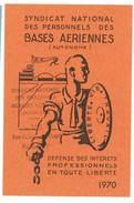 Carte Syndicat National Des Personnels Des Bases Aériennes, 1970 - Cartes