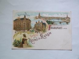 FRANKFURT    GRUSS VOM HOTEL DE RUSSIE - Frankfurt A. Main