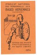 Carte Syndicat National Des Personnels Des Bases Aériennes, 1974 - Cartes