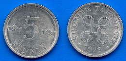 Finlande 5 Pennia 1979 Finland Penni Non Euro Paypal Skrill Bitcoin OK - Finlande