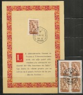 AMERICAN INDIAN DAY - 1948 ARGENTINA OFFICIAL NUMBERED FIRST DAY CARD + BLOCK OF 4 - American Indians