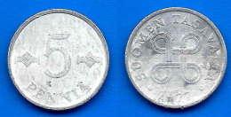 Finlande 5 Pennia 1977 Finland Penni Non Euro Paypal Skrill Bitcoin OK - Finlande
