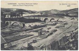 Langogne - Les Deux Ponts Sur L'Allier ( Usine Des Poteaux Télégraphiques ) - Langogne