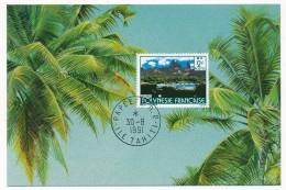 Polynésie Française - Carte Maximum - 2 F Ua Fou - 1991 - Cartes-maximum