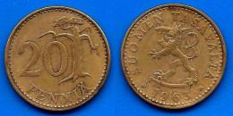 Finlande 20 Pennia 1963 Finland Penni Non Euro Paypal Skrill Bitcoin OK - Finlande