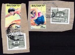 Bhoutan YT 1015-1016 Obl. Sur Fragments - Ete 1992: Barcelone