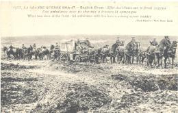 Front Anglais , Une Ambulance Avec 10 Chevaux à Travers La Campagne , Bon état ( Voir Scan ) - Guerre 1914-18