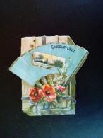 Chromo CHOCOLAT LOUIT - Eventail, Fleurs -  Scans  Recto Verso - Louit
