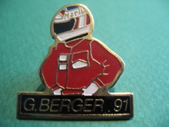 Pin's - 052 - Pilote Automobile Formule 1 - Gerhard Berger 1991 - Automobile - F1