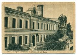 Anni '50, Oria (Brindisi), Edificio Scolastico E Chiesa Di Santa Lucia, Scuole Elementari, Non Comune, FG VG - Italie