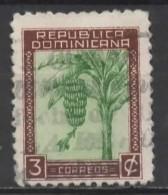 DOMINICAN REPUBLIC 1942  Banana Tree - 3c. - Green And Brown  FU - Dominican Republic