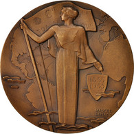 France, Medal, Centenaire De La Compagnie Générale Transatlantique - France