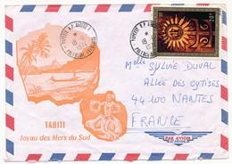 "Polynésie Française - Enveloppe 1974 Oblitérée ""Papeete RP - Annexe N°1 Polynésie Française"" - Polynésie Française"