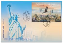 Kyrgyzstan 2016 FDC World Philatelic Exhibition Of 2016 World Stamp Show Panorama Of New York Eagle - Esposizioni Filateliche