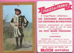 Pub BLOCH - Potalux  - Plaque En Tôle - Format 100 X 70 Mm - Costumes Militaires - CENT-SUISSE 1557 - Advertising