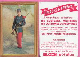 Pub BLOCH - Potalux  - Plaque En Tôle - Format 100 X 70 Mm - Costumes Militaires - Soldat 1870 - Advertising