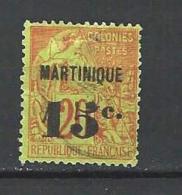 """Martinique YT 16 """" Colonie Surch. 15c. S. 20c. """" 1888-91 Oblitéré - Gebraucht"""