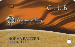Treasure Bay Casino Bolixi MS - Slot Card - P645317, PG & BIL On Back - Casino Cards