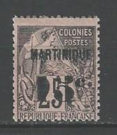 """Martinique YT 17 """" Colonie Surch. 15c. S. 25c. """" 1888-91 Neuf* - Gebraucht"""