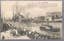 SAINT - NAZAIRE . Départ Du Cuirassé France . - Saint Nazaire