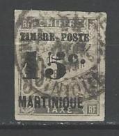 """Martinique YT 22 """" Taxe Surch. 15c. S 30c. Noir """" 1891-92 Oblitéré - Gebraucht"""