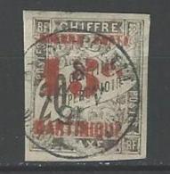 """Martinique YT 25 """" Taxe Surch. 15c. S 20c. Noir """" 1891-92 Oblitéré - Gebraucht"""