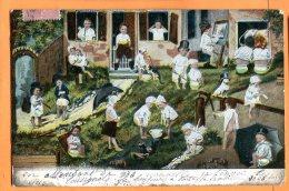 MADD141, Bébés,  Parapluie, Précurseur, Circulée 1904 - Bébés